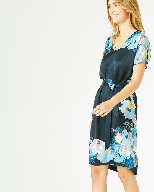 Robe bleu marine imprimée Griotte (1) - 1-2-3