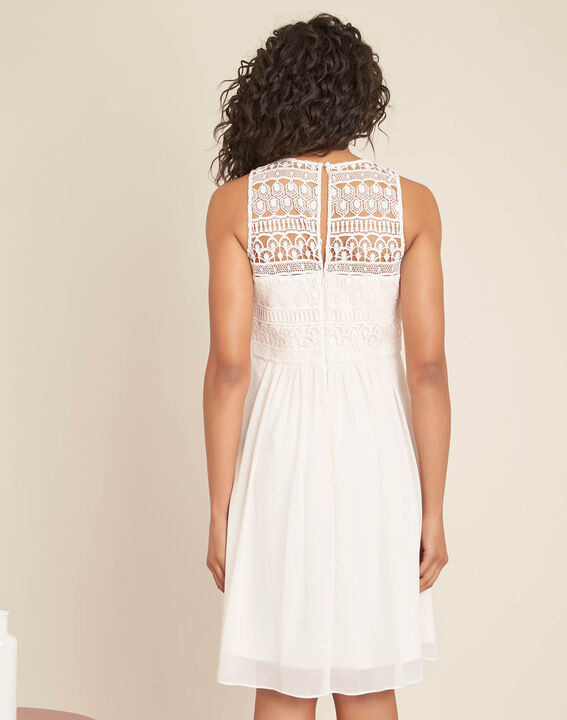 Ibiza pale pink dress with lace at the neckline (4) - 1-2-3