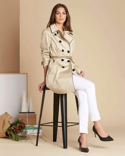 Trench beige gansé Kate (1) - 1-2-3