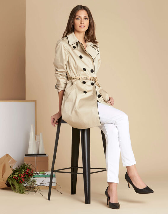Trench beige gansé Kate (2) - 1-2-3