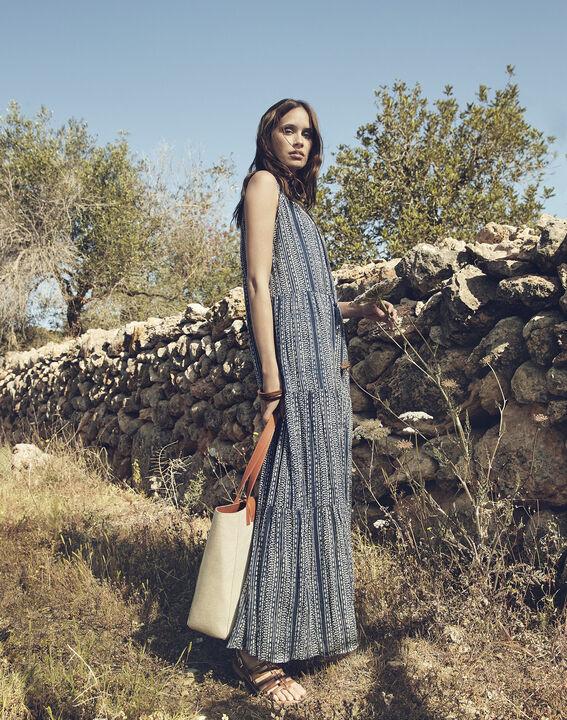 Robe bleue imprimée longue Luisa PhotoZ | 1-2-3
