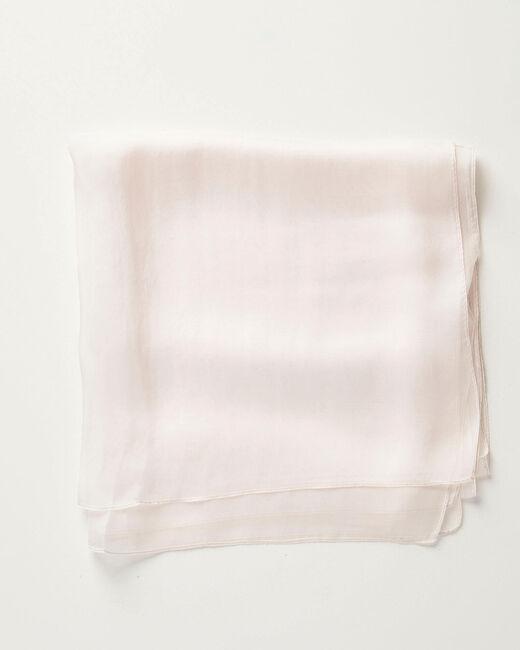 Foulard en soie nude uni Alice (1) - 1-2-3