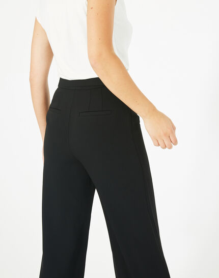 Voyou tailored black trousers with belt (4) - 1-2-3