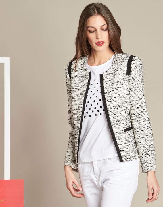 Tweed-Jacke mit Ripsband-Details Clelia (3) - 1-2-3