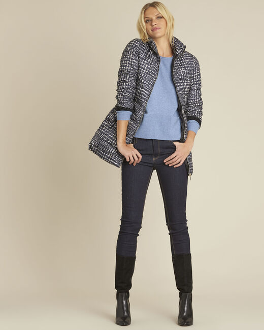 Pepita printed quilted down jacket (1) - 1-2-3