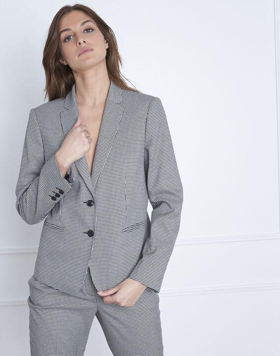 Taillierte Jacke mit Vichy-Print Fiona (1) - Maison 123