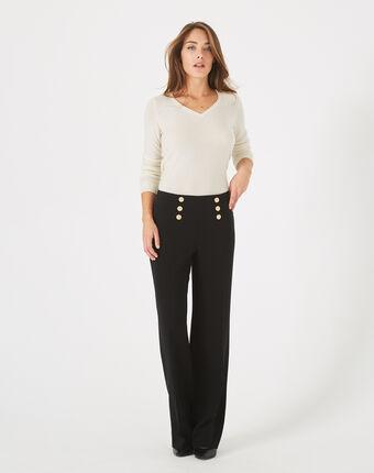 Pantalon à pont noir valeur noir.
