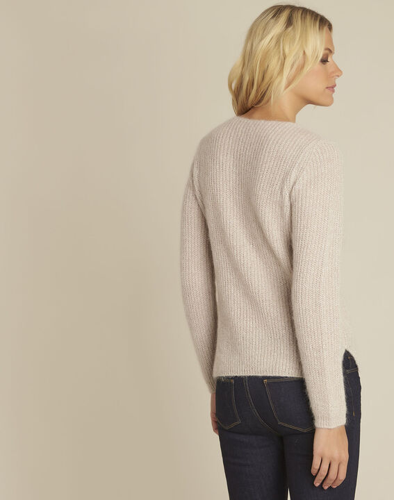 Bello pink mohair mix pullover (4) - Maison 123