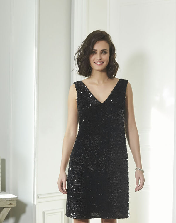 Noce Black Sequined Dress (1) - 1-2-3