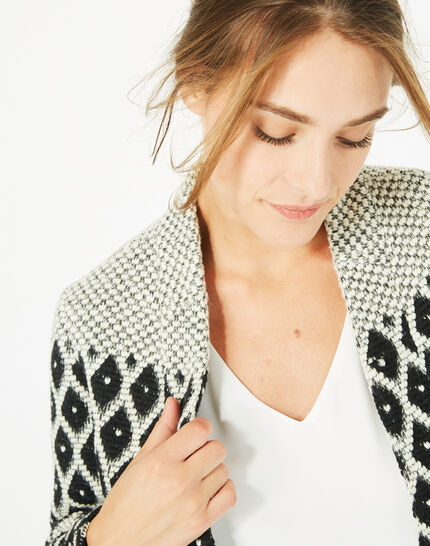 Minotaure black and white jacquard jacket (3) - 1-2-3