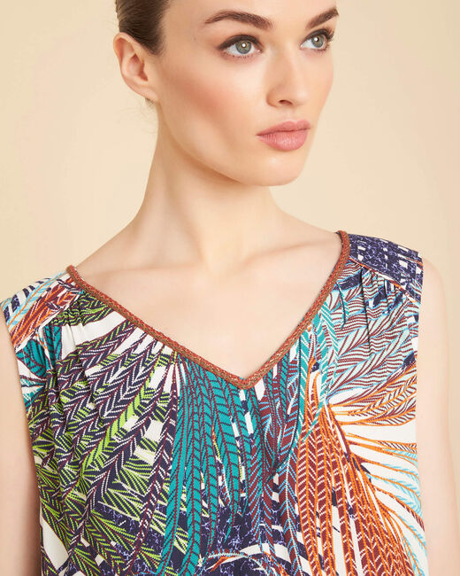 Galaxie palm printed multi-coloured top (1) - 1-2-3