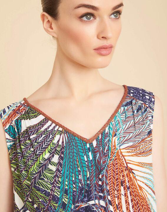 Galaxie palm printed multi-coloured top PhotoZ | 1-2-3