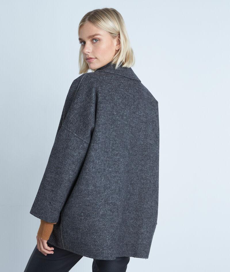 Manteau court en laine gris chiné Lucile PhotoZ | 1-2-3