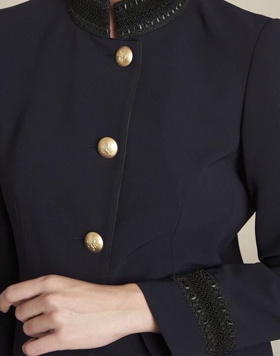 Veste marine officier détail col Shelby (3) - 1-2-3