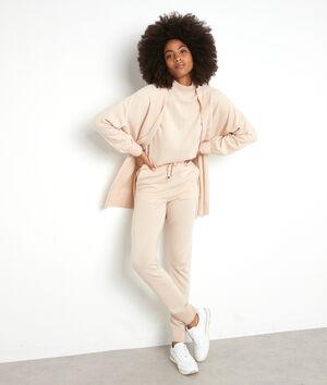 Pantalon en polyester et laine recyclés beige Taylor