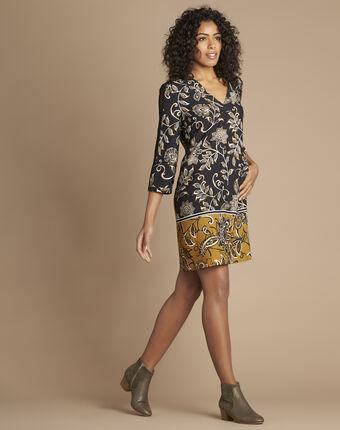 Kendal dual-fabric heeled ankle boots in khaki kaki.