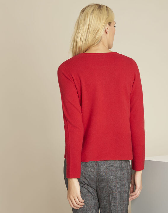 Pull rouge cachemire poches Brume (4) - 1-2-3