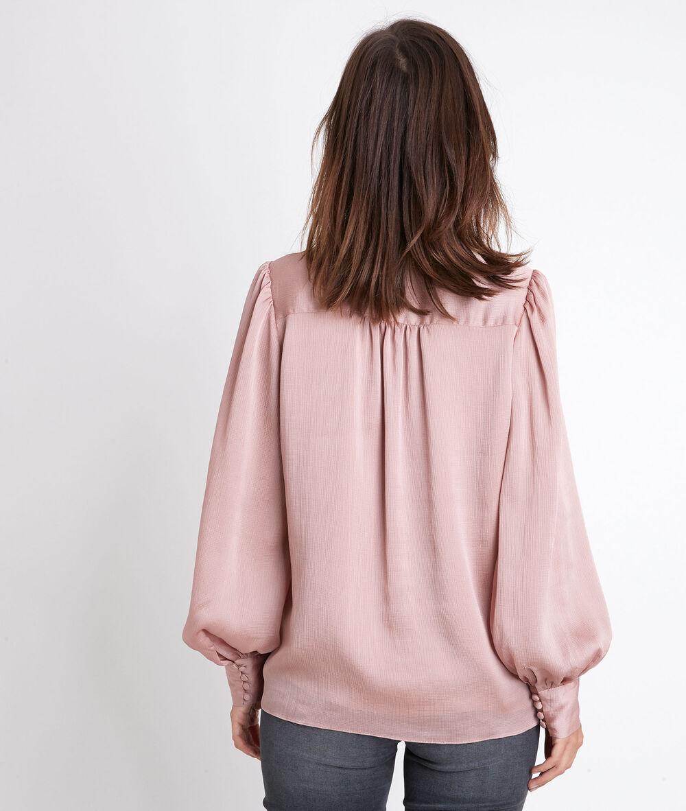 Damen Bluse mit plissierten Ärmeln 34 36 38 40