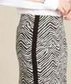 Lisa zebra printed straight-cut skirt with lateral band PhotoZ | 1-2-3