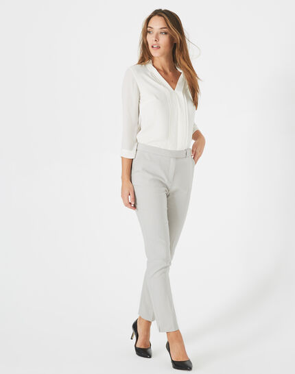Pauline tailored grey trousers with buckle (2) - 1-2-3
