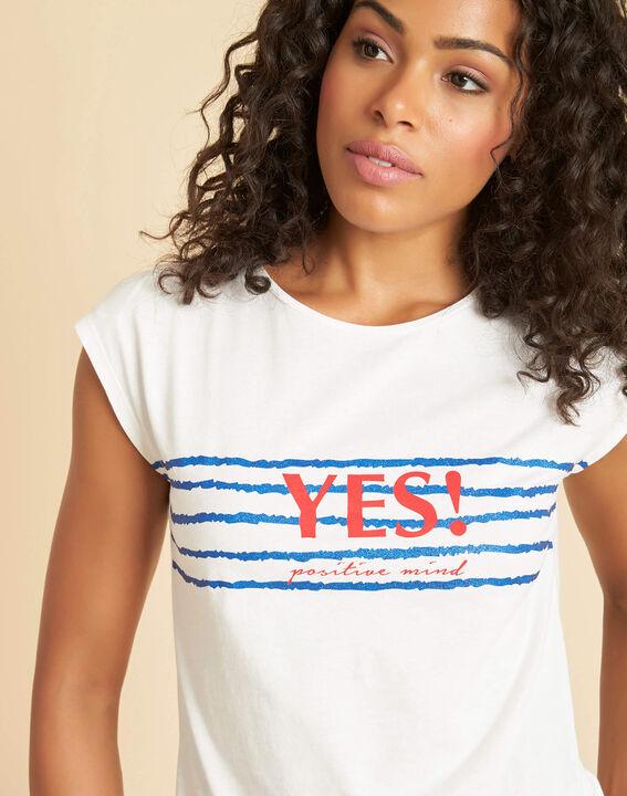 Ecrufarbenes T-Shirt mit Siebdruck Ebloui (4) - 1-2-3