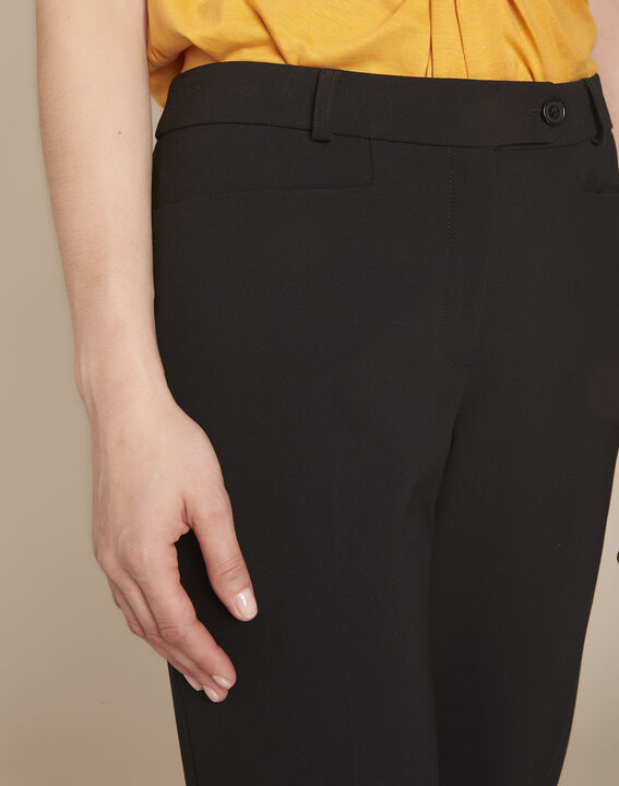 Valero black fitted trousers with pleats (3) - 1-2-3