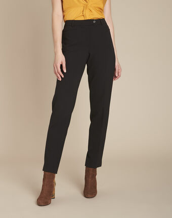 Valero black fitted trousers with pleats black.
