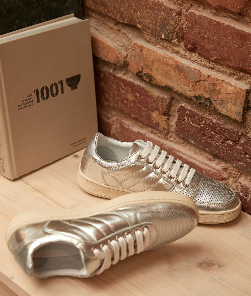 Sneakers van zilverkleurig leder Victoria PhotoZ   1-2-3