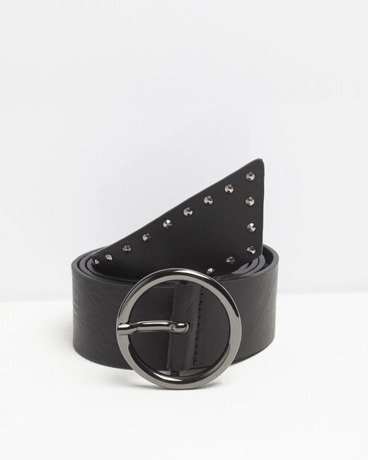Raphael wide black leather studded belt (1) - 1-2-3