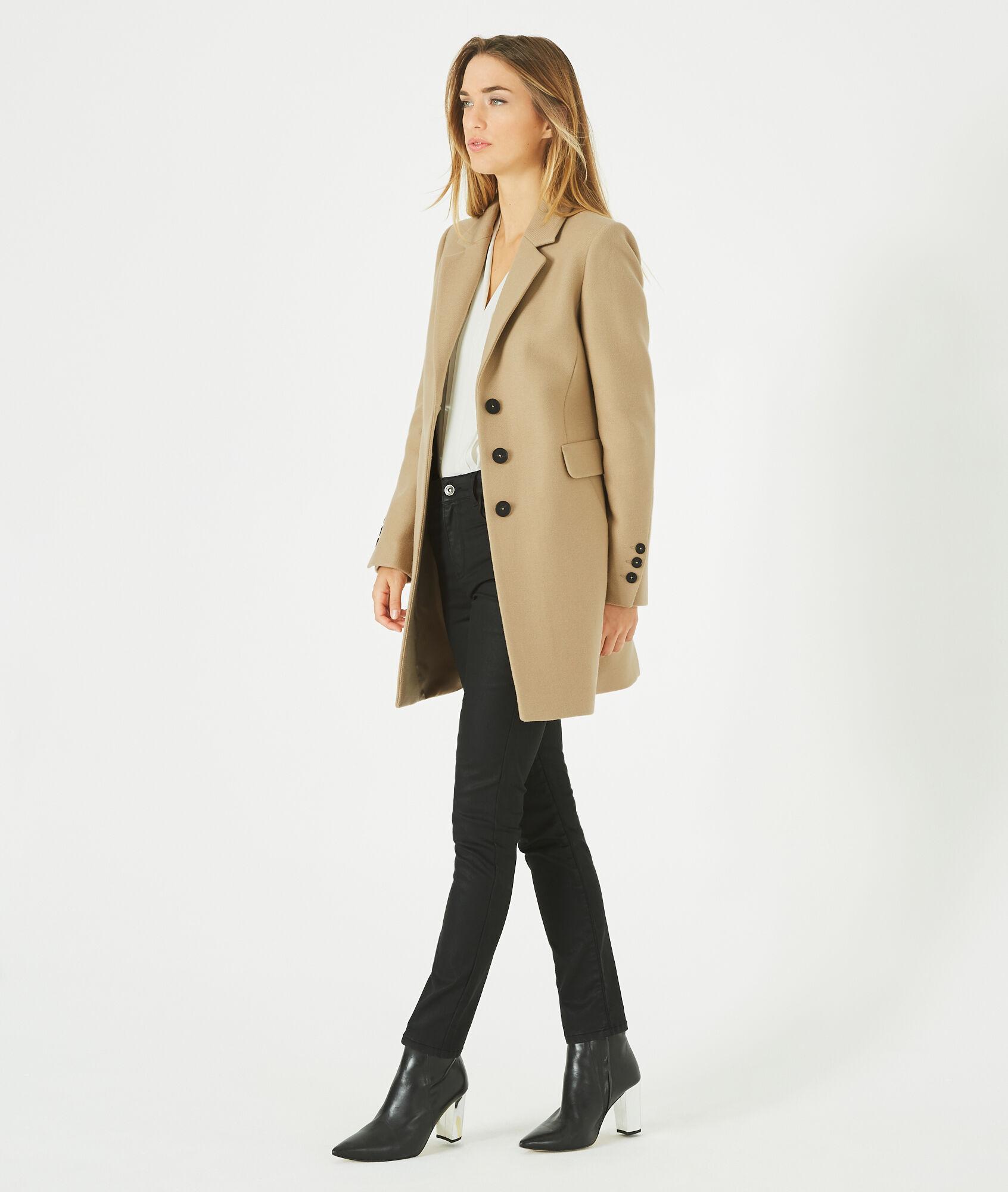 Manteau beige en laine