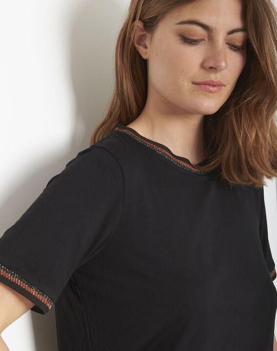Tee-shirt noir détails ruban Proove (1) - Maison 123