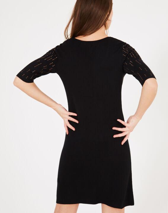 Schwarzes Kleid mit goldenem Strass Princesse (5) - 1-2-3