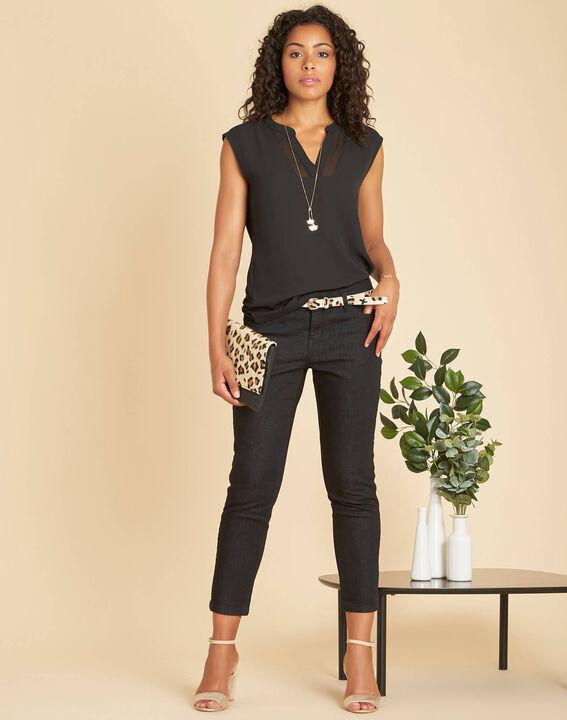 Schwarze 7/8-Slim-Fit-Jeans Turenne (2) - 1-2-3