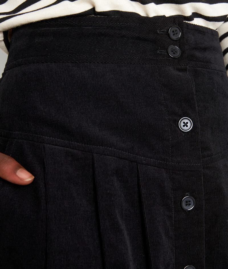 Jupe midi en velours milleraies noire Francine PhotoZ | 1-2-3
