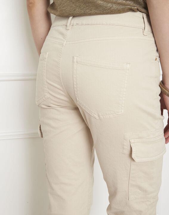 Pantalon crème cargo Carolina (4) - Maison 123