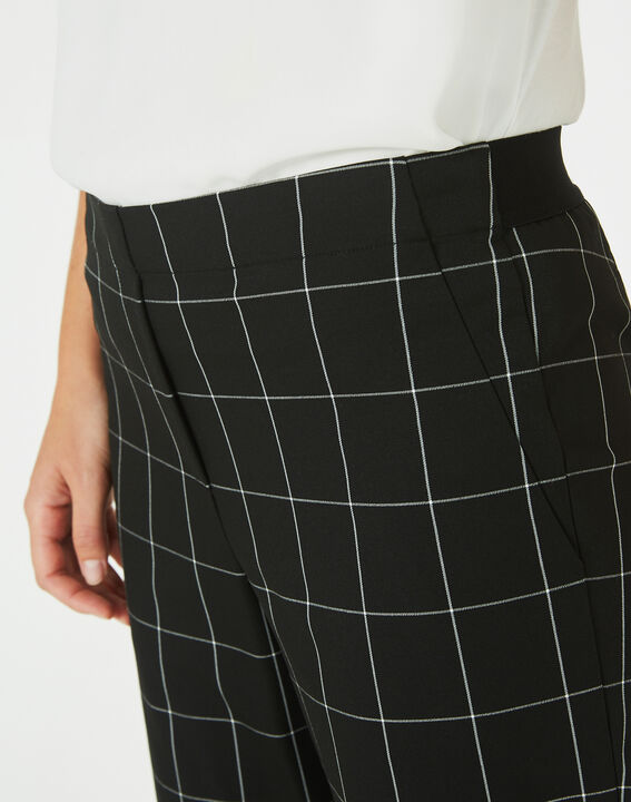 Voltage black and white check tailored trousers (3) - 1-2-3