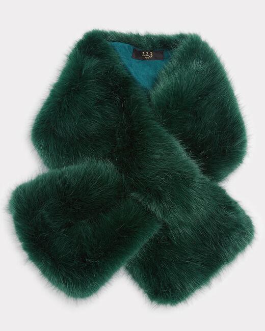 Col vert anglais en fausse fourrure Ewenne (2) - 1-2-3