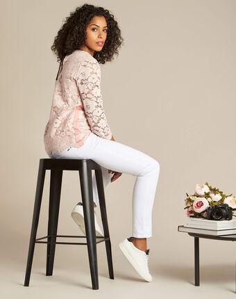 Geraldine powder pink blouse in lace salmon.