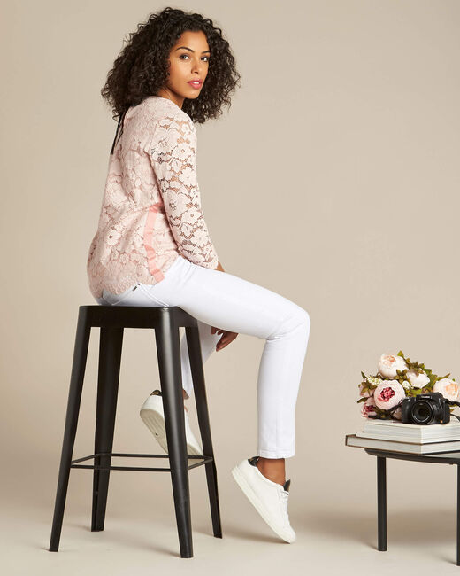 Geraldine powder pink blouse in lace (1) - 1-2-3