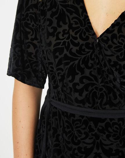 Tee-shirt noir effet dévoré Ballerina (4) - 1-2-3