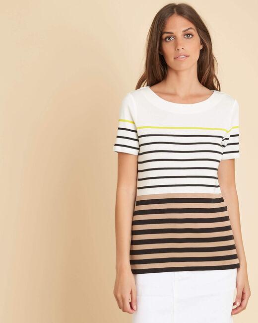 Esayat striped black T-shirt (2) - 1-2-3