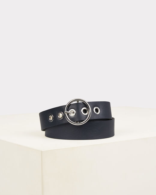 Olivia navy blue leather belt (2) - 1-2-3