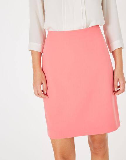 Jupe de tailleur rose droite Fantastic (2) - 1-2-3