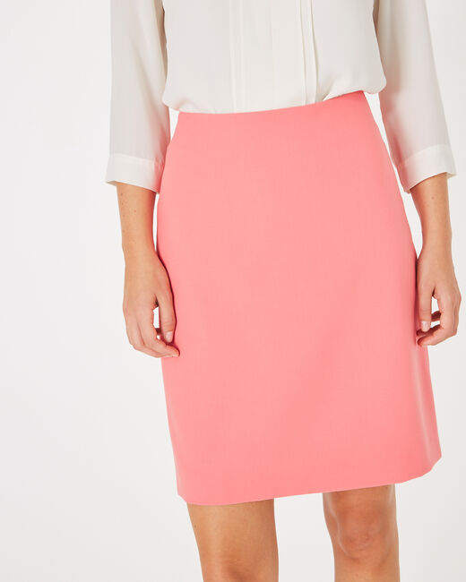 Fantastic pink straight-cut tailored skirt (2) - 1-2-3