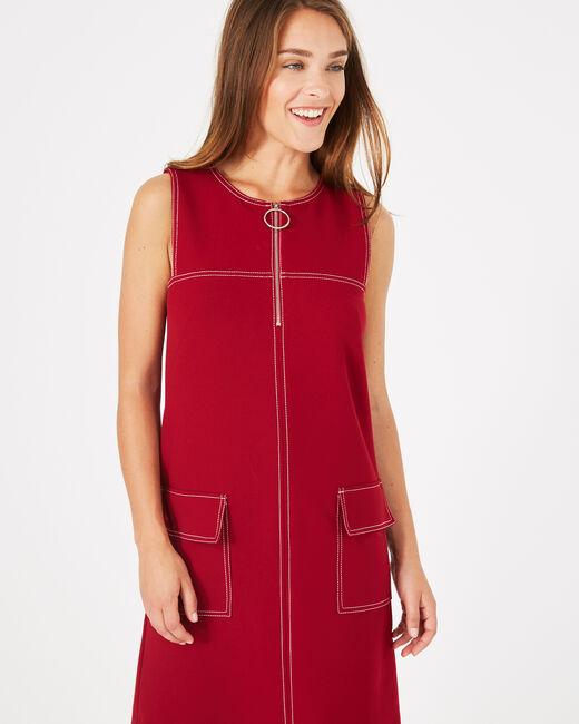 Robe compacte rouge Alix (2) - 1-2-3