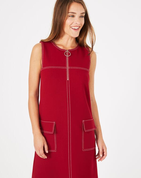Robe compacte rouge alix à