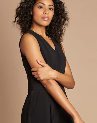 Pomme black sleeveless cropped jumpsuit black.