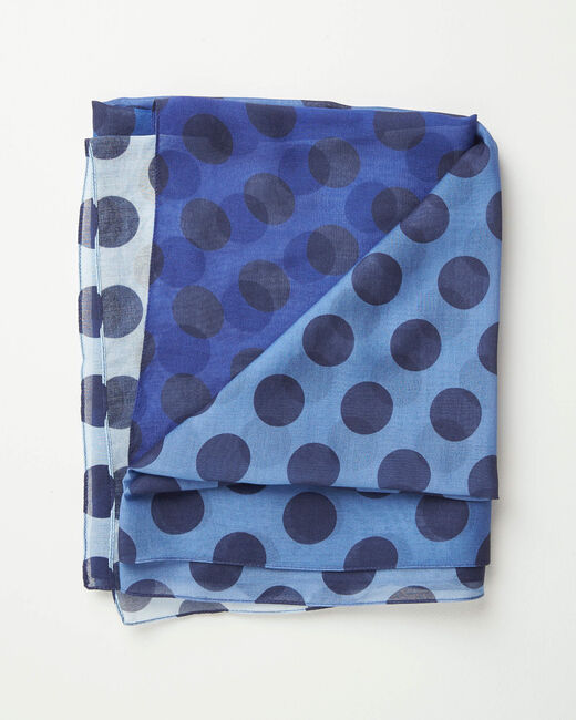 Amandina polka dot faded-effect scarf (2) - 1-2-3