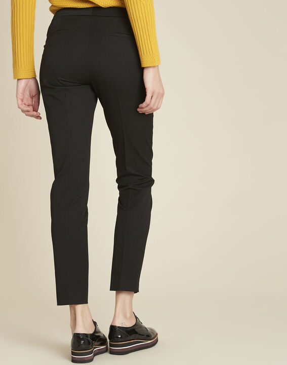 Helsy black cigarette-cut trousers (4) - 1-2-3
