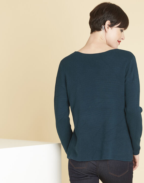 Blandine emerald green sweater with pockets (4) - 1-2-3